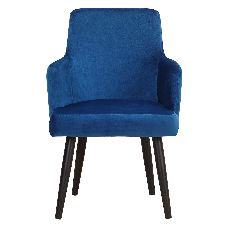 Set van 2 Neiva fauteuils van blauw fluweel