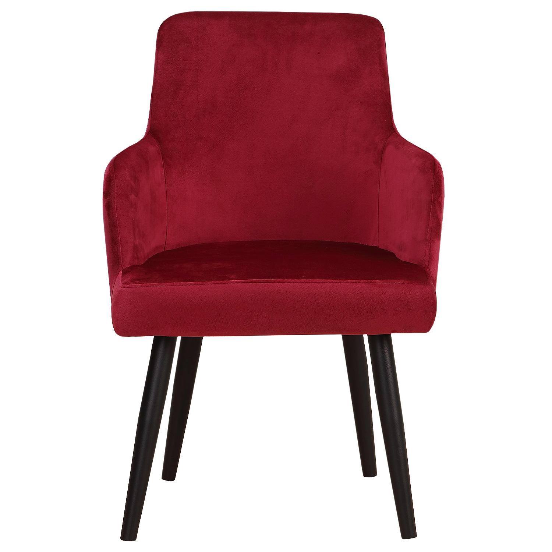 Set van 2 Neiva fauteuils van rood fluweel
