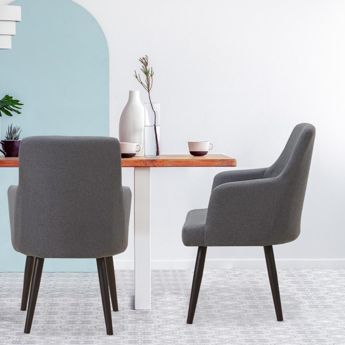 Set van 2 Neiva fauteuils in donkergrijze stof
