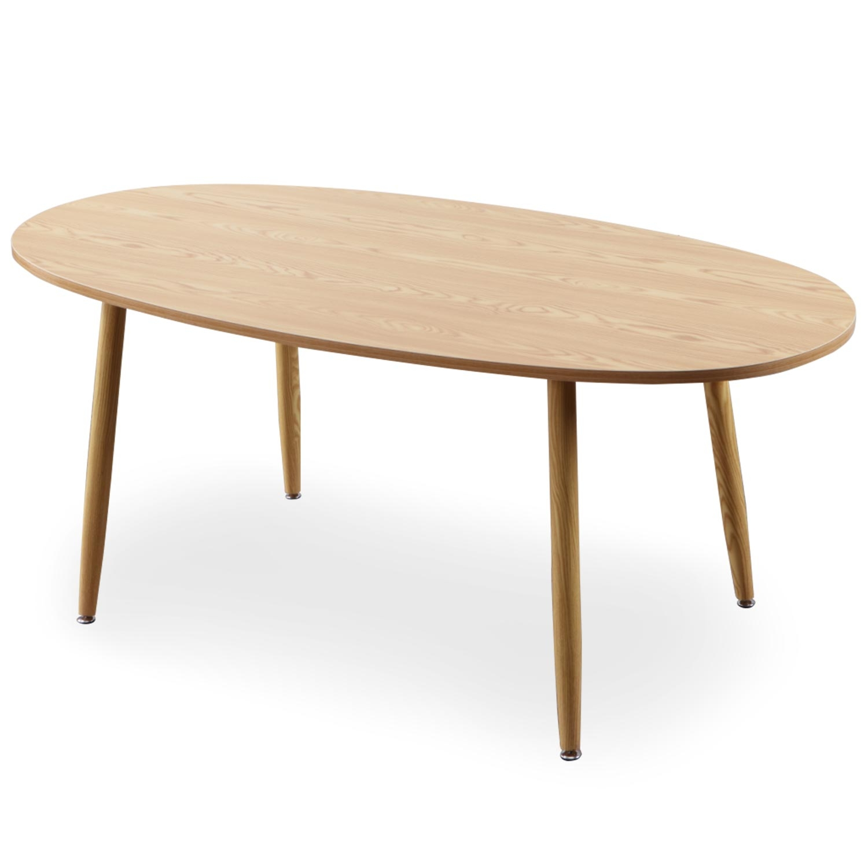 Table ovale scandinave Nolane Chêne clair