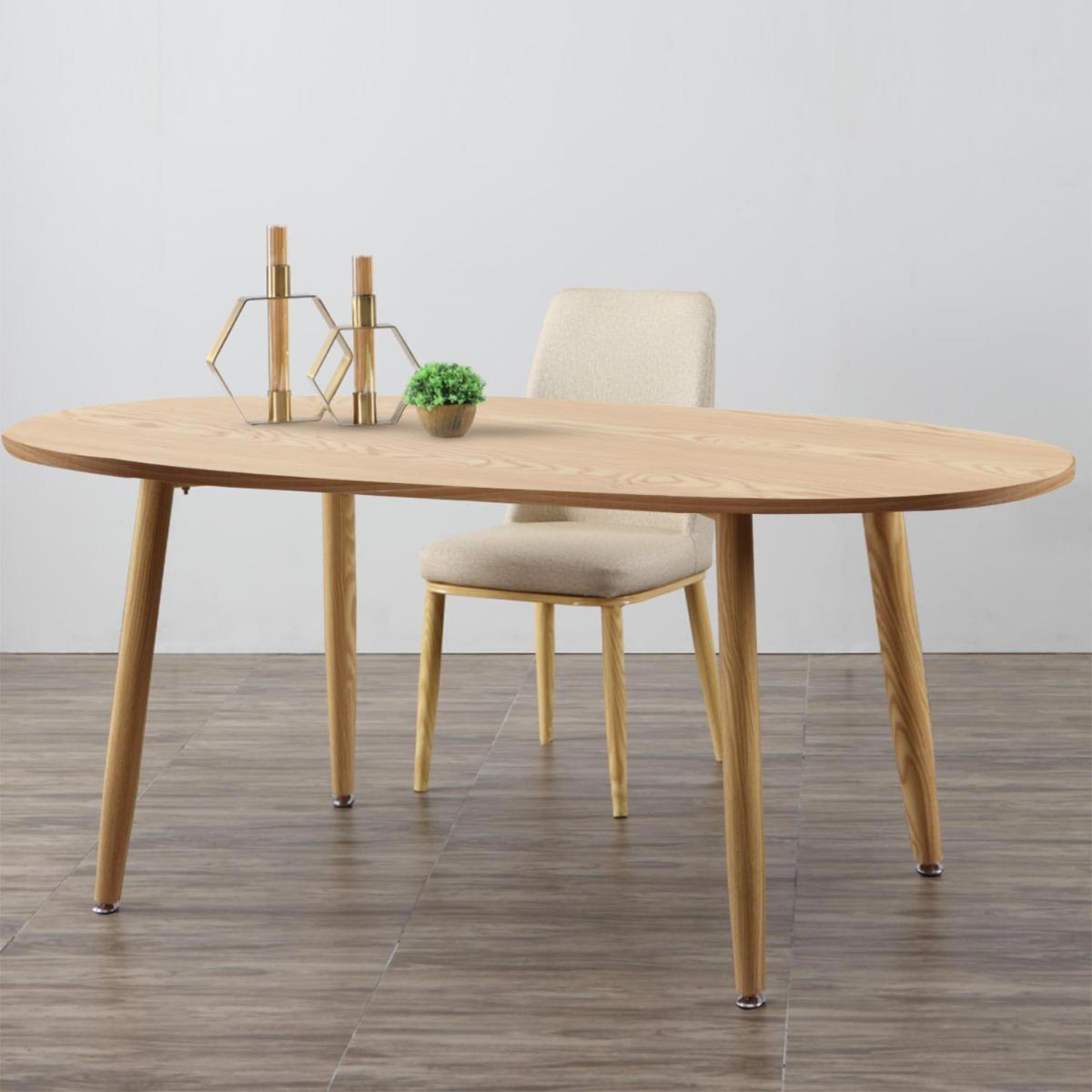 Scandinavische ovale tafel Nolane Licht eiken