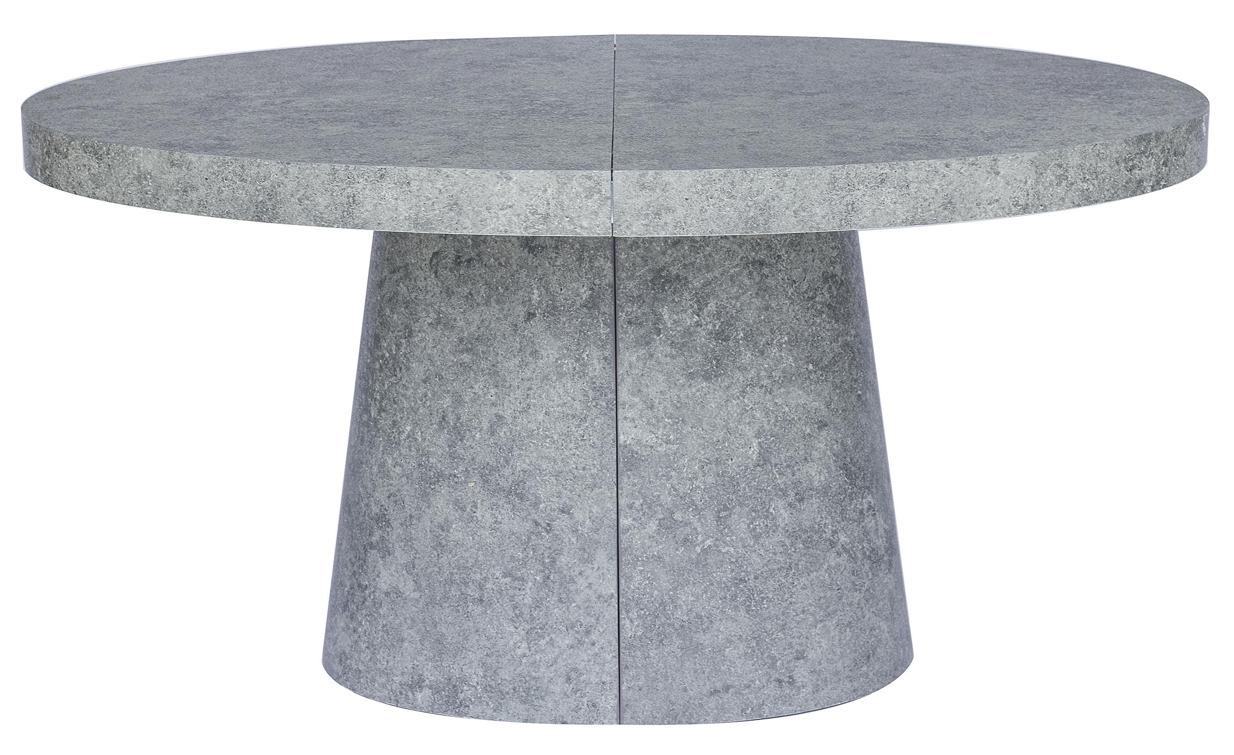 Table ovale extensible Oluze Effet Béton