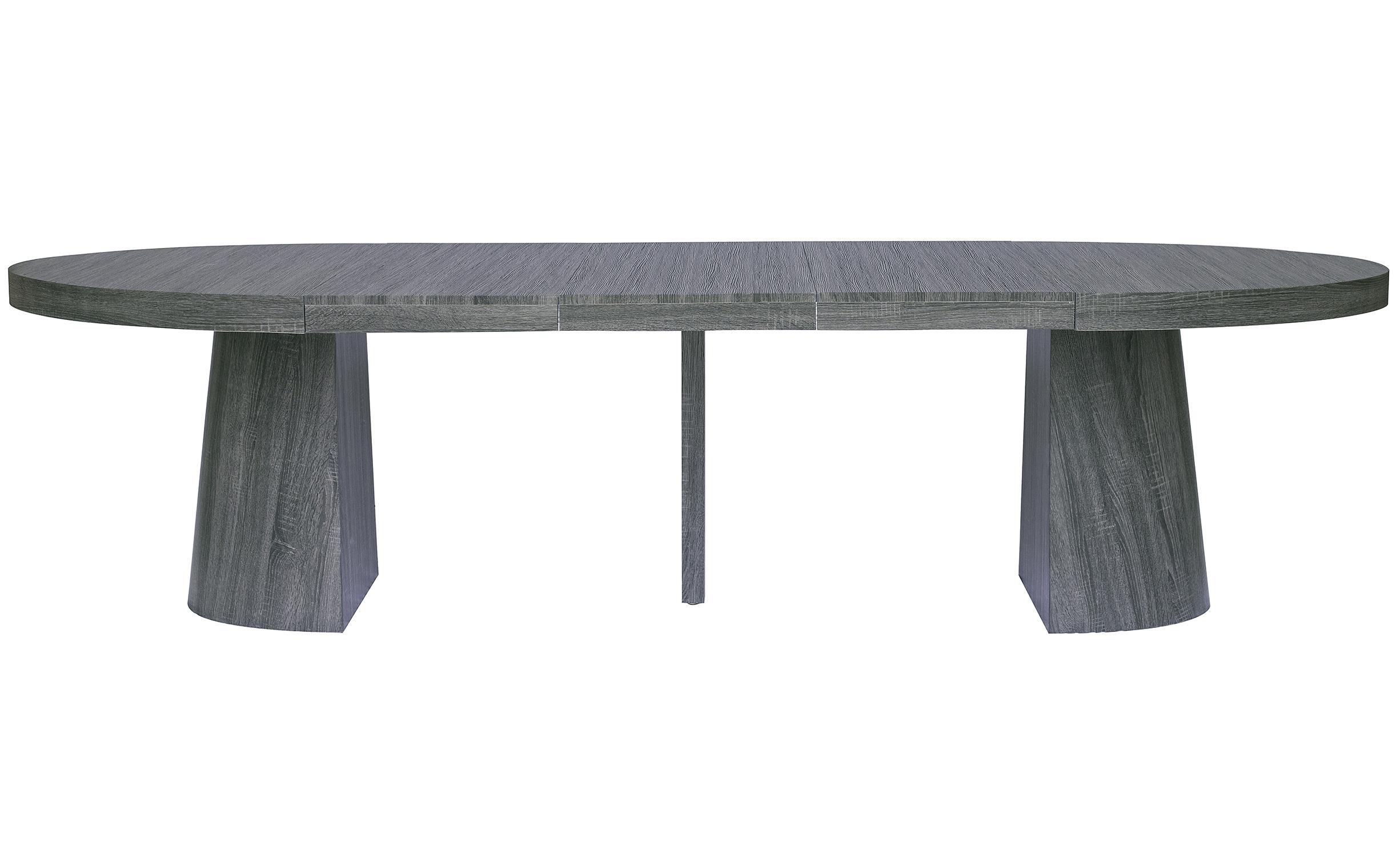 Ovale uitschuifbare tafel Oluze Vintage