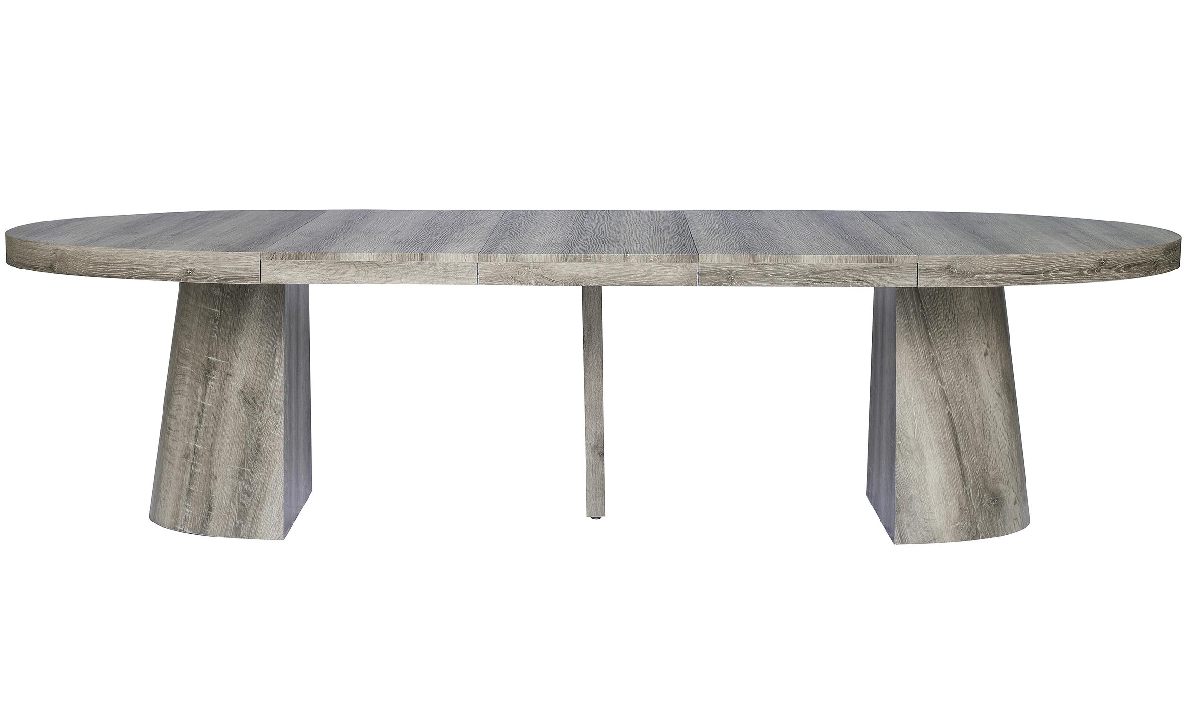 Ovale uitschuifbare tafel Oluze Dark Oak