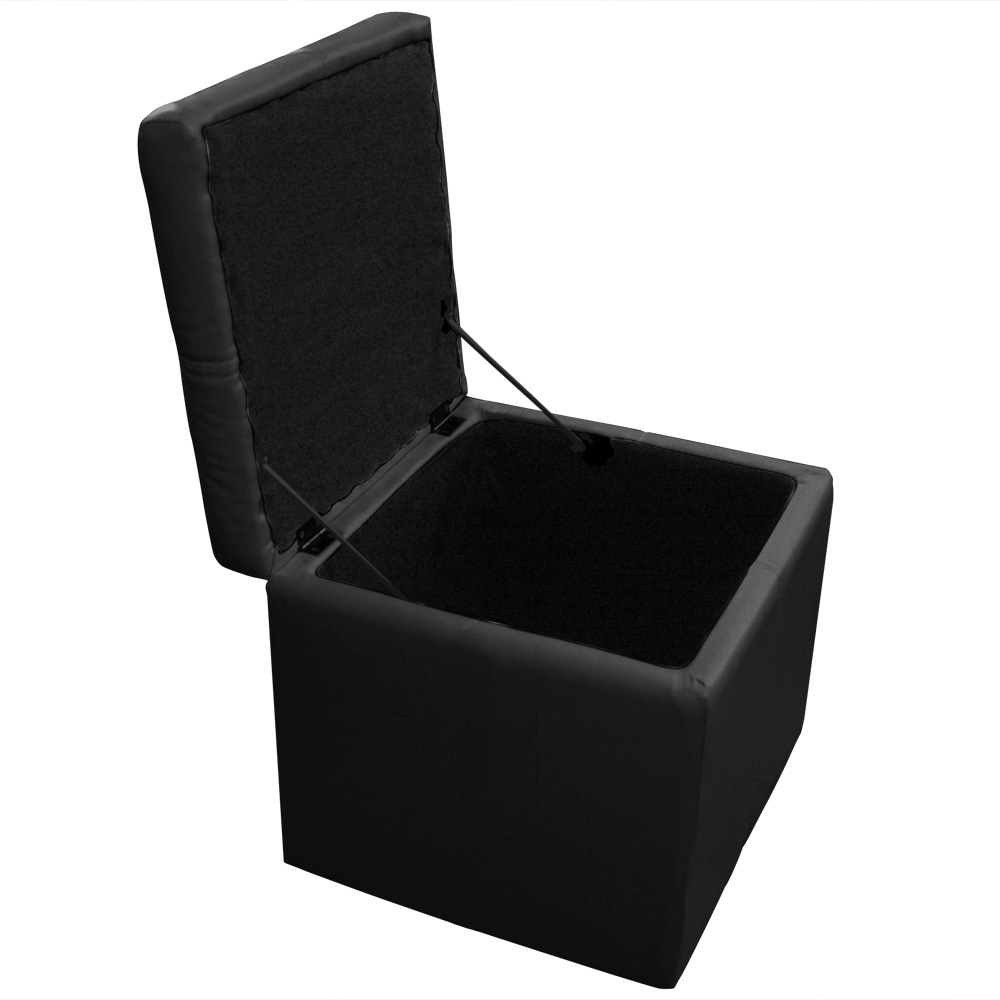 Panky Chest Bench + 2 voetenbankjes Zwart