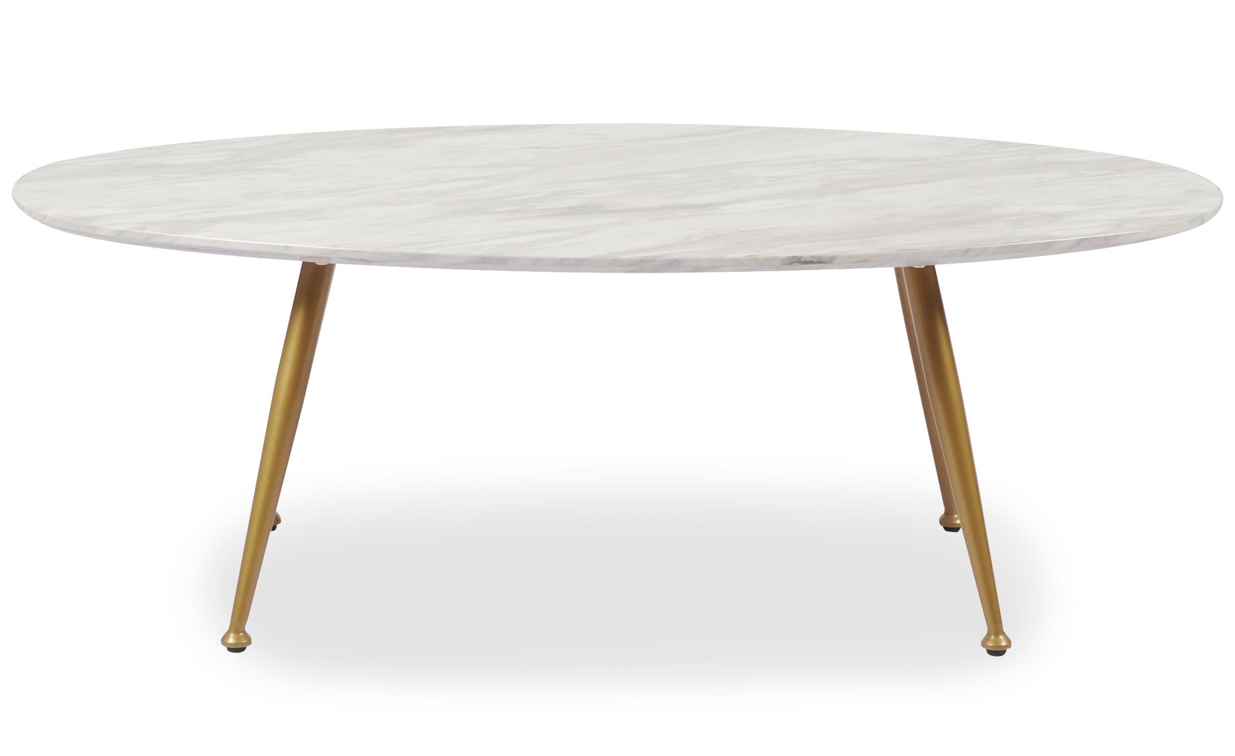 Ovale salontafel Romy Marmereffect