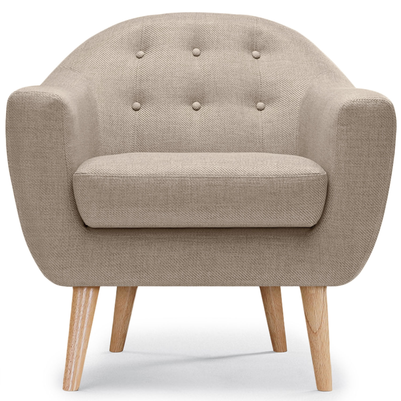 Scandinavische Savoy fauteuil Beige stof