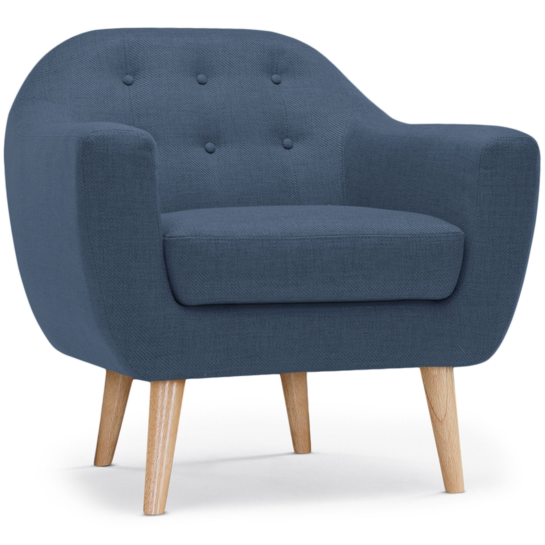 Fauteuil scandinave Savoy Tissu bleu