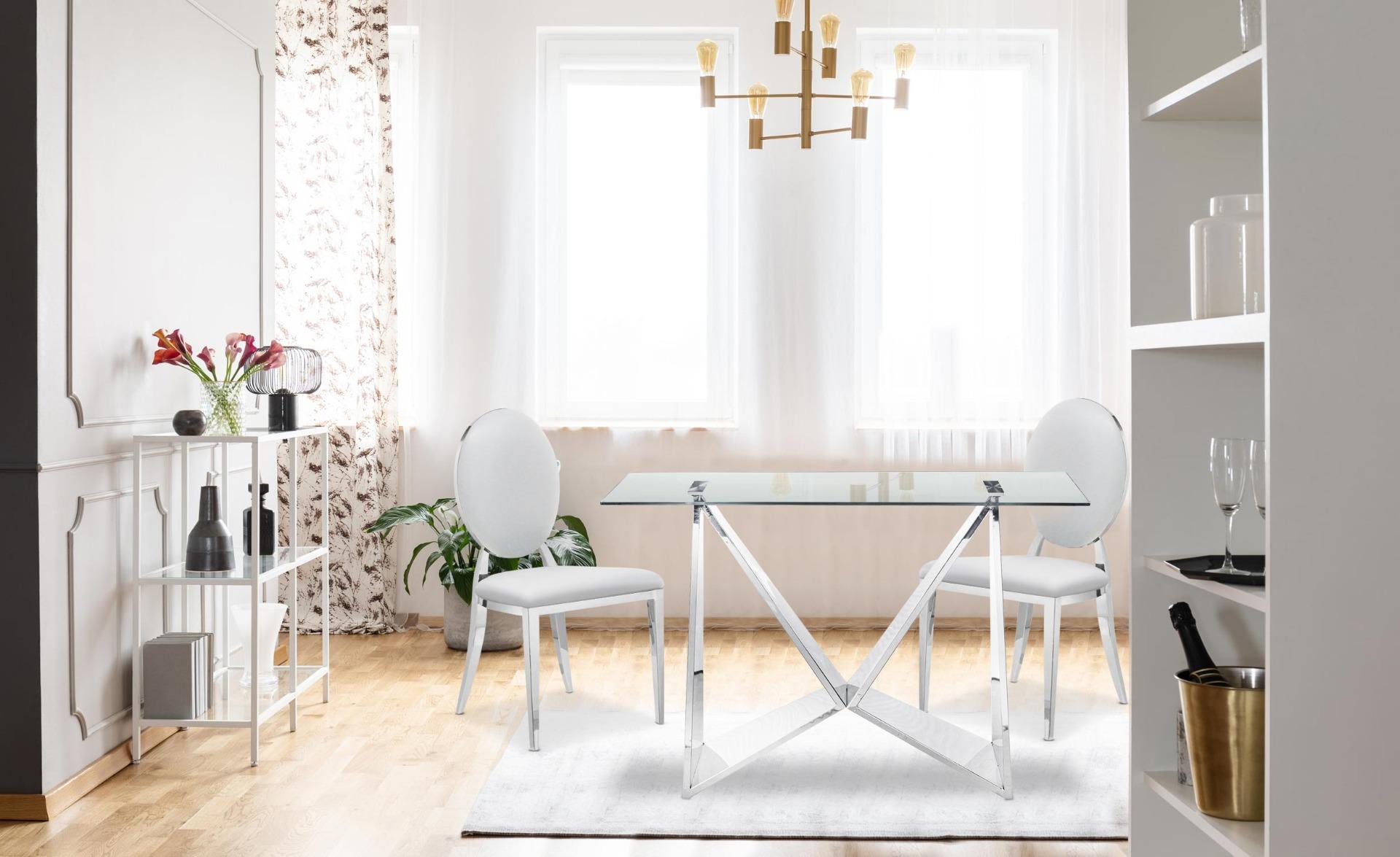Lot van 2 stoelen medaillon Sofia Simili White
