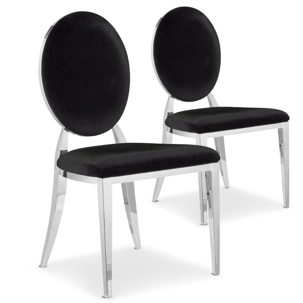 Lot de 2 chaises Sofia noires