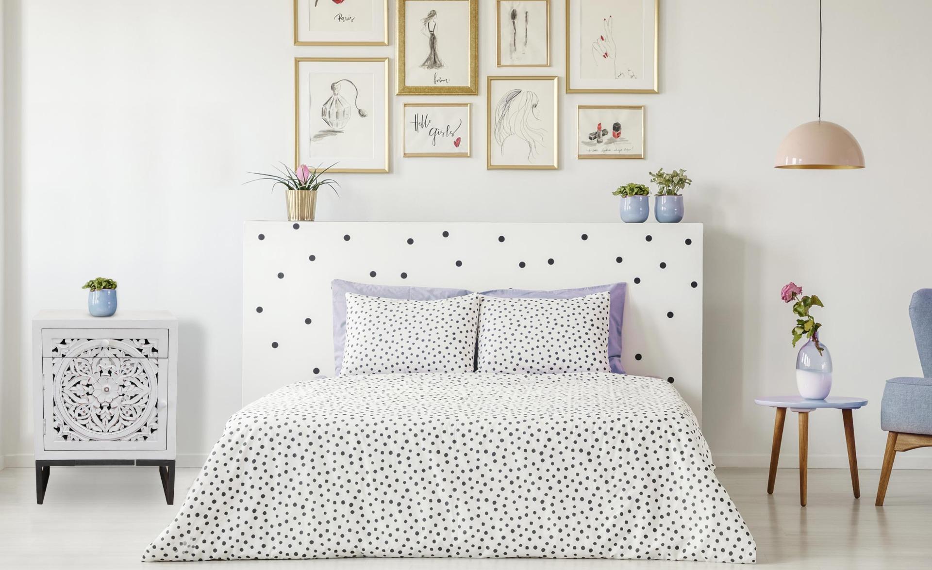 Wit nachtkastje met 1 deur en 1 lade Serena