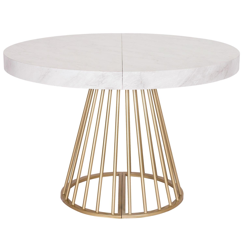 Table ronde extensible Soare Effet Marbre