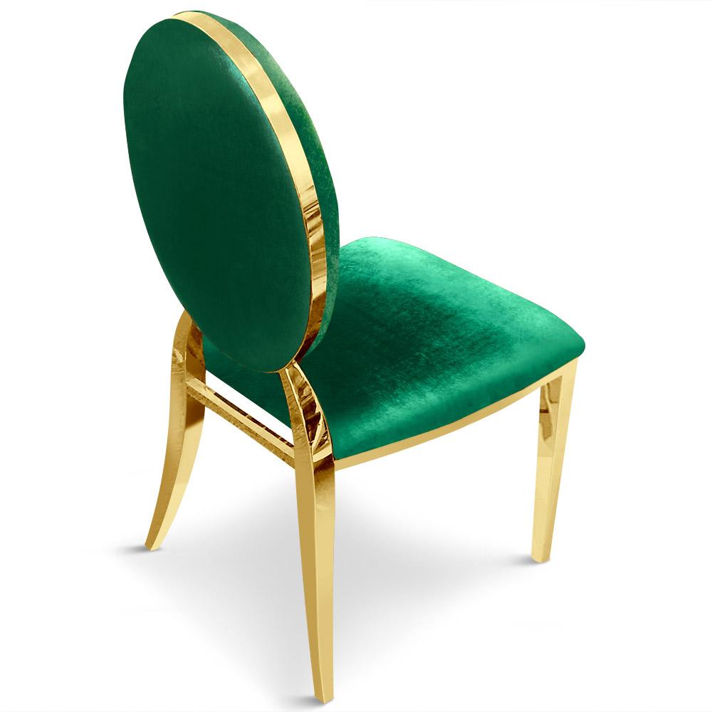 Set van 2 Sofia medaillon stoelen groen fluweel