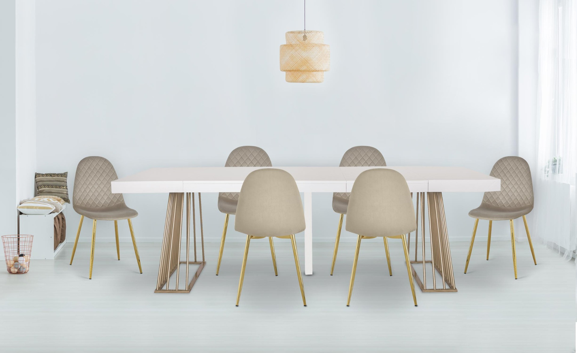 Uitschuifbare tafel Solix Zwart Hout