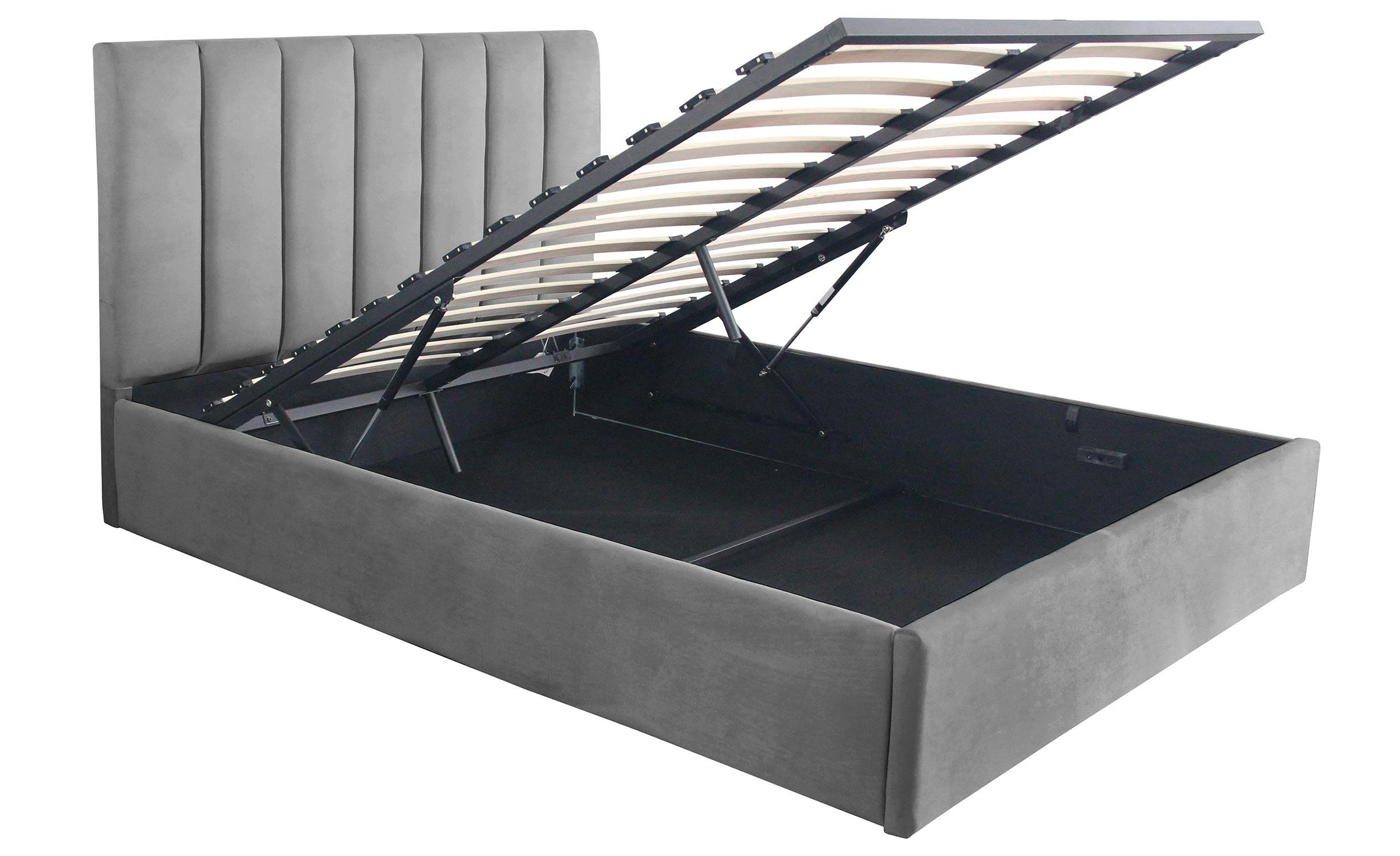 Songe Safe Bed + Silver Velvet Box 140cm
