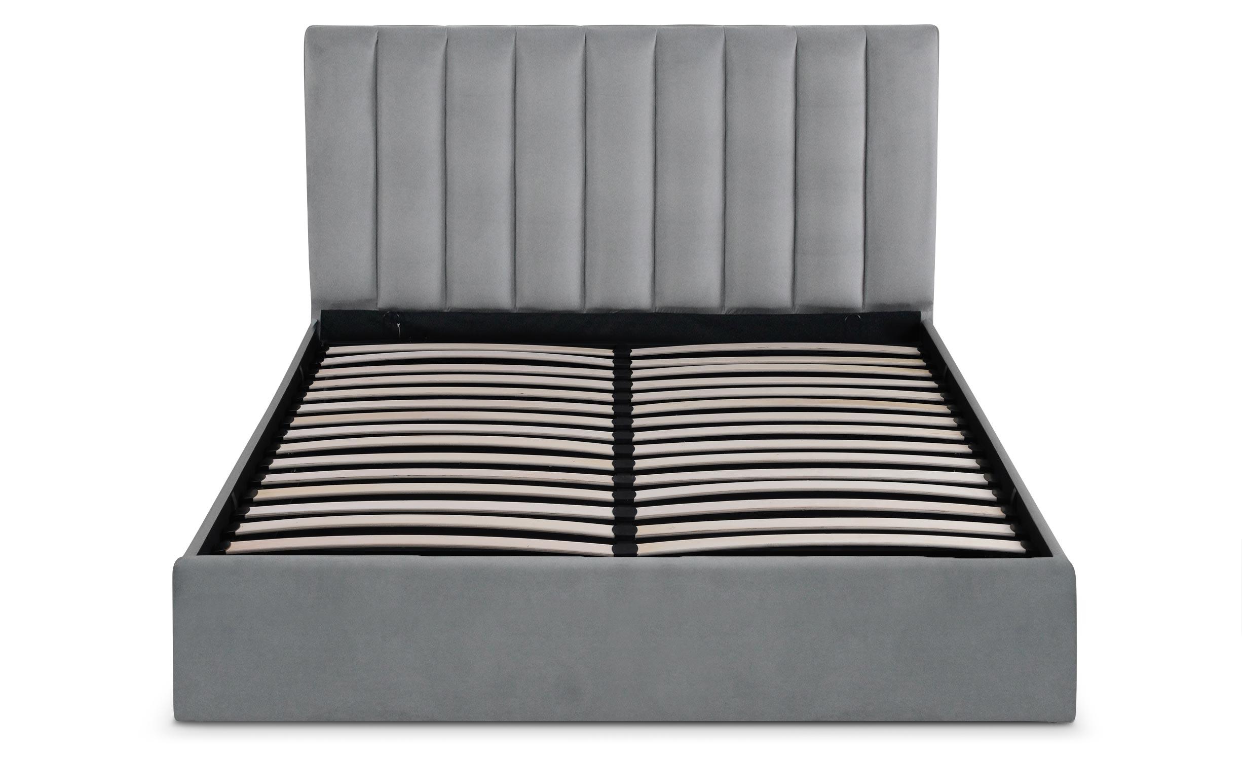 Songe Safe bed + zilveren fluwelen bedbodem 160 cm