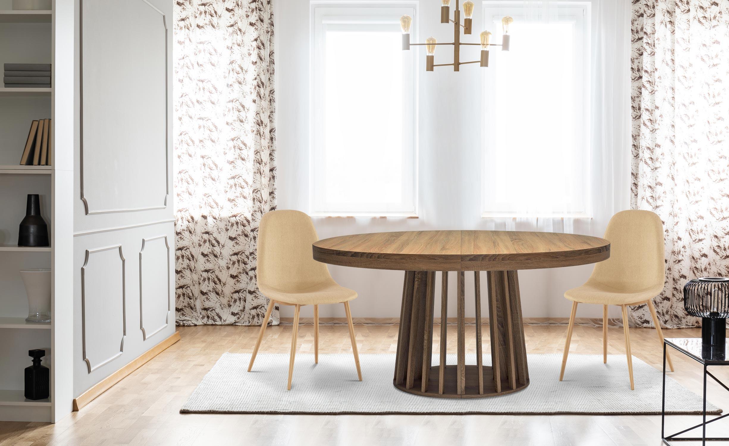 Eliza uitschuifbare ovale tafel Hazelnoot hout