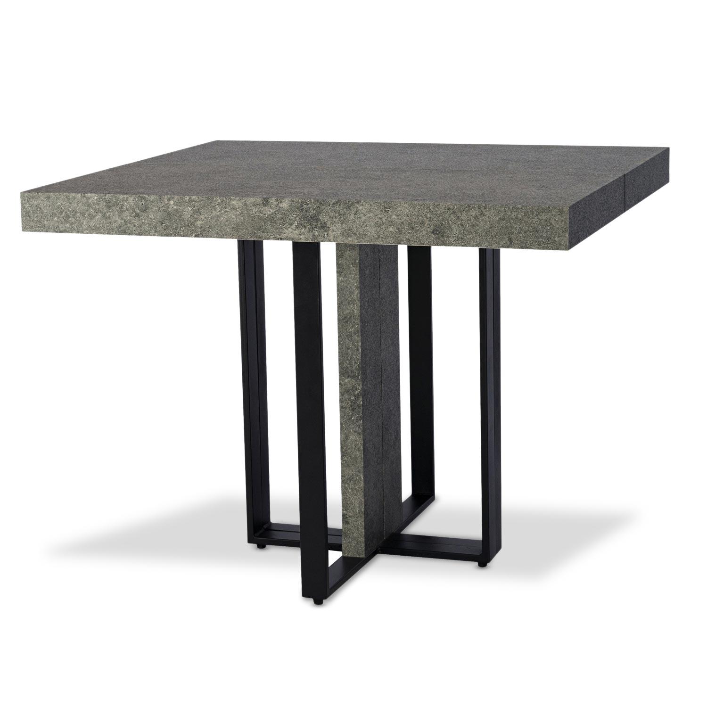 Uitschuifbare tafel Teresa Betoneffect zwarte poten