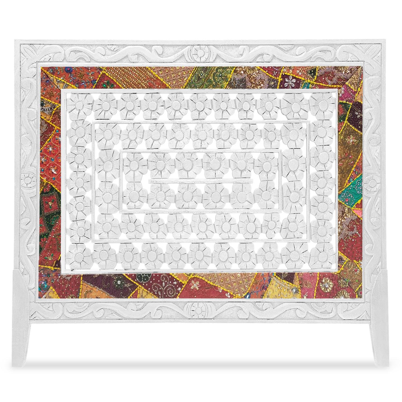 Tête de lit Exclufleur Tissu 160cm Bois Blanc