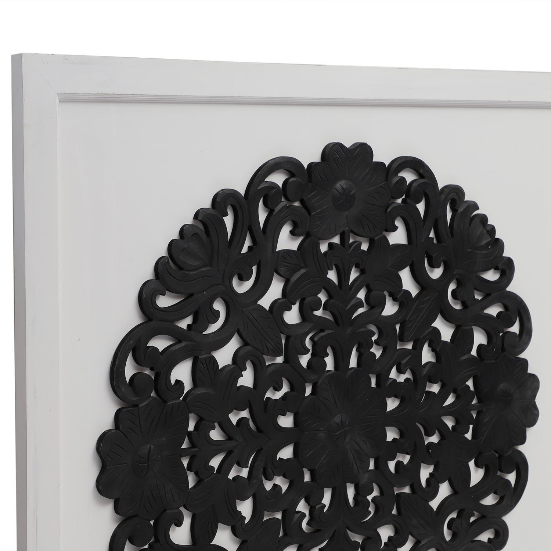 Hoofdeinde Venezia 140 cm wit en zwart hout
