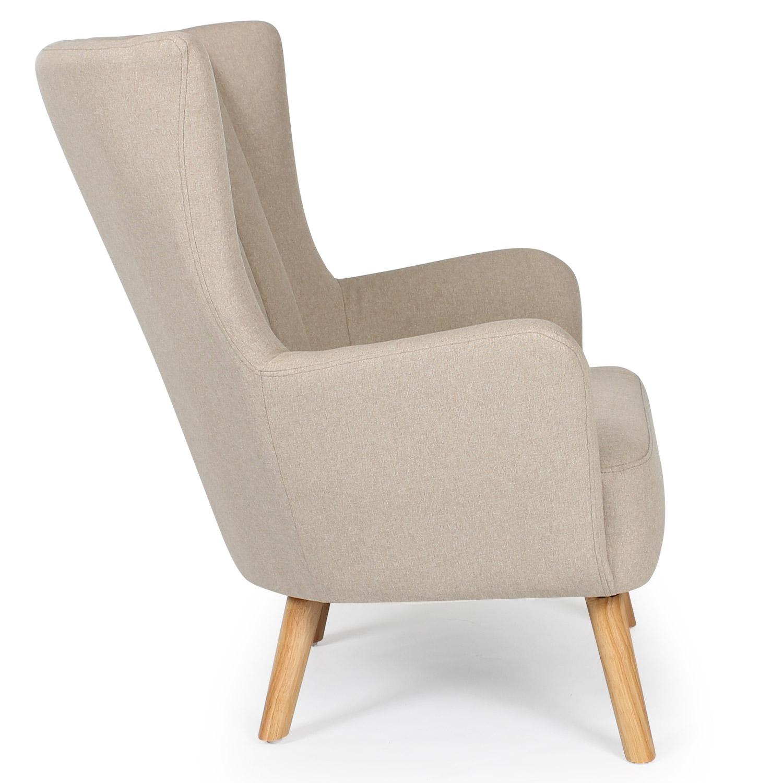 Scandinavische fauteuil Vidal Beige