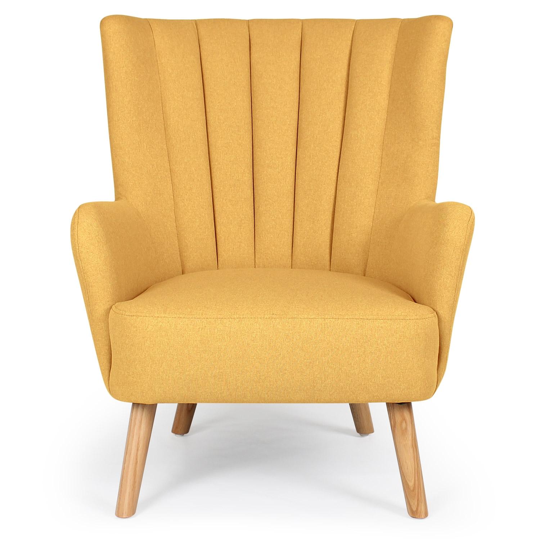 Scandinavische fauteuil Vidal Geel