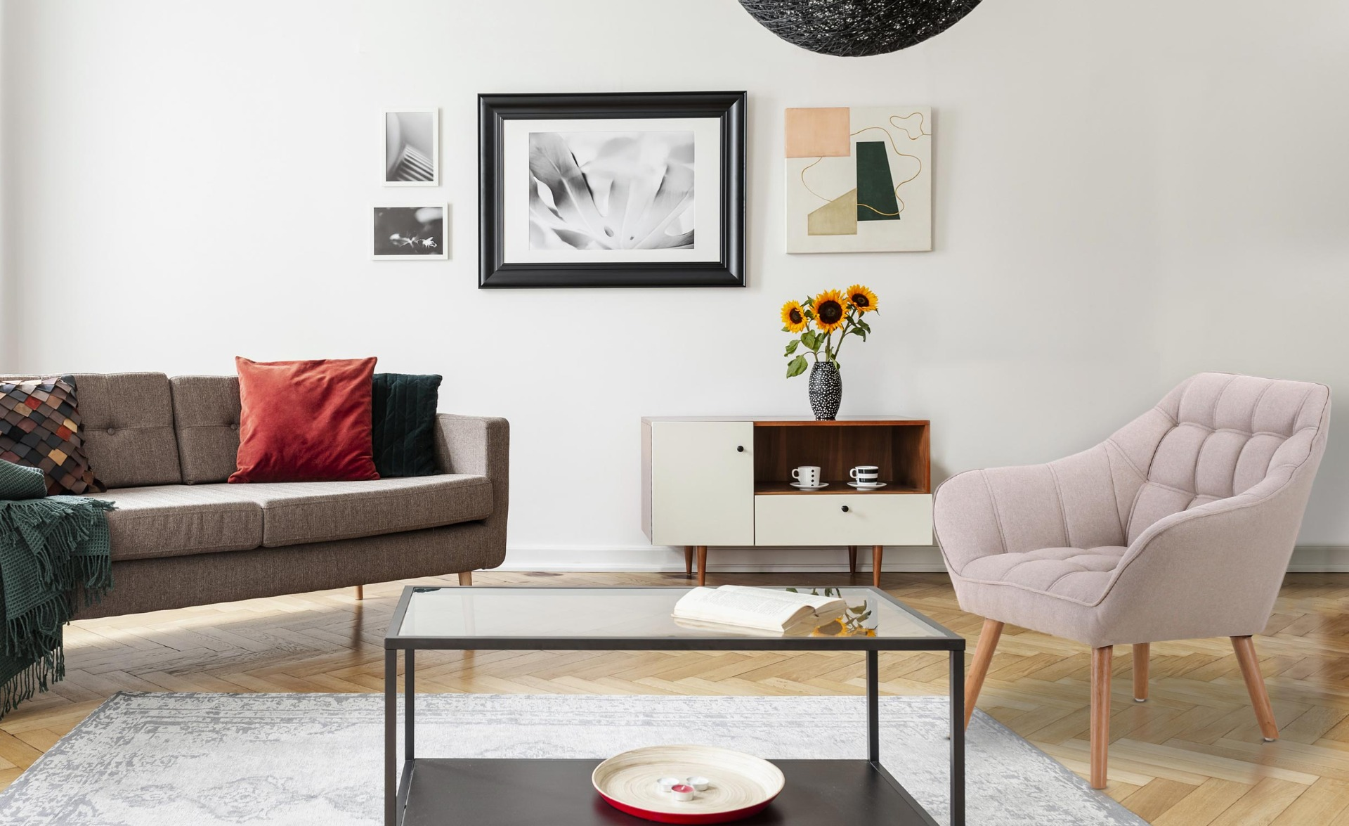 Scandinavische Zentao fauteuil beige stof